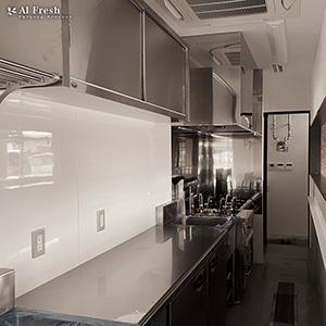 まぜそば 紅ノ月 厨房 施工中 写真